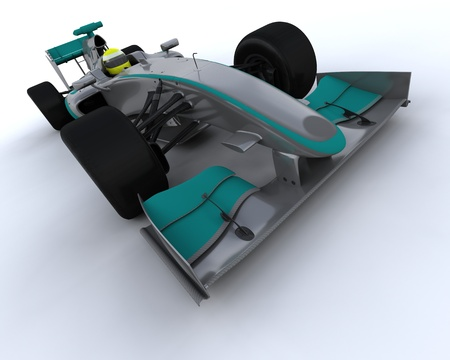 3D Render of a F1 Racing Car photo