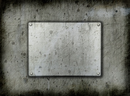 pitted: Dirty metal background with a grunge effect