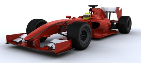 cars race: 3D Render of a F1 Racing Car
