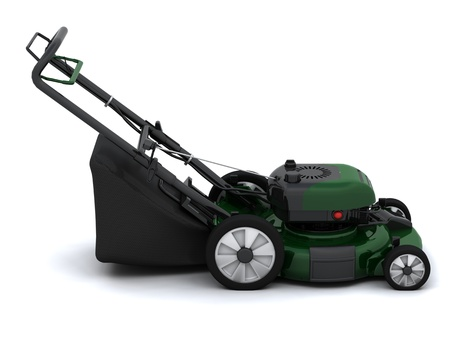 3D Render of a Petrol Lawn Mower Stock Photo - 9549976