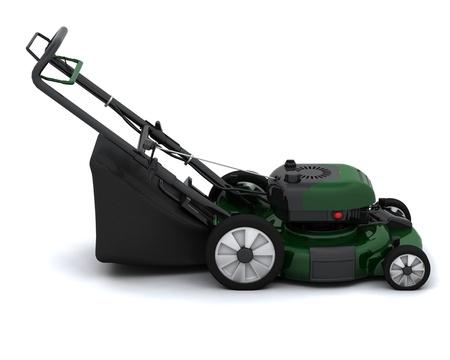 3D Render of a Petrol Lawn Mower