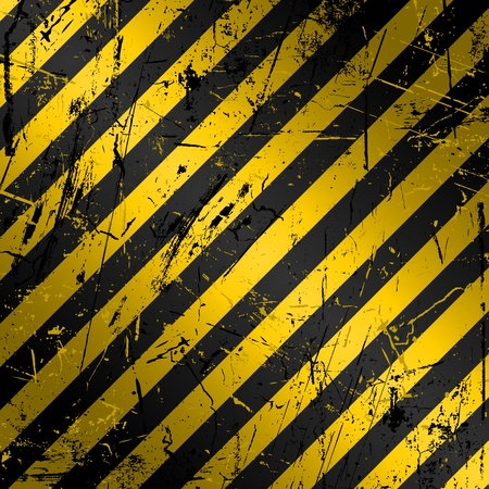 grunge: Textured grunge construction background in yellow and black