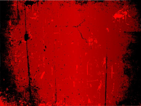 grunge background: Detailed grunge background in shades of red