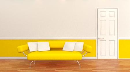 architectural interior: 3D render of a Modern architectural interior