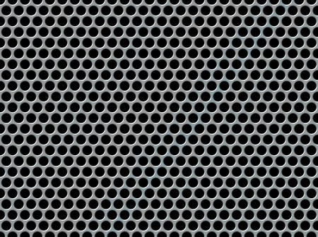 shiny metal: Abstract background with a perforated metal effect Stock Photo