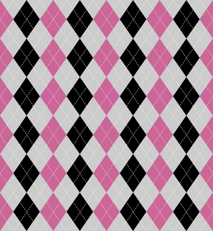 harlequin: Seamless tiled background of an argyle style pattern Illustration