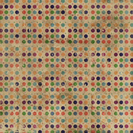 polka dots: Grunge style background with a polka dots pattern Stock Photo