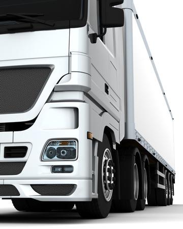 remolque: Render 3D de un vehículo de carga