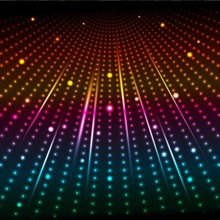 starbursts: Fondo abstracto de luces brillantes de colores