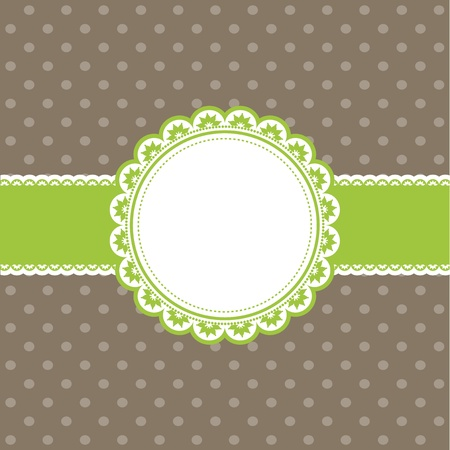 Cute retro styled background with a polka dot design Stock Photo - 10528826