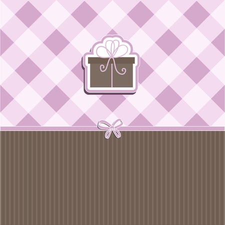 Cute Christmas background with image of gift Stock Photo - 10528824