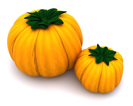 3d render of uncarved holiday pumkins  photo