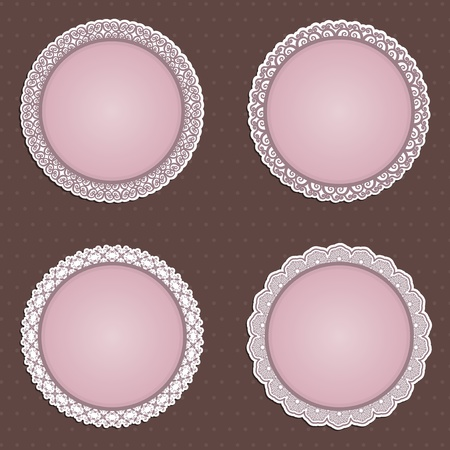 A collection of four detailed circular borders photo