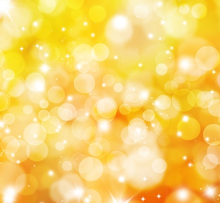 Decorative background with bokeh lights and sparkling stars Stock Photo - 10965219