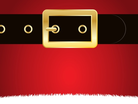 belt buckle: Close up of the coat and belt of Father Christmas