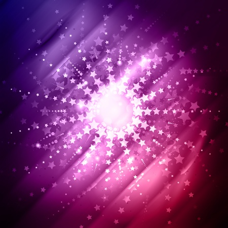 Abstract star burst background in shades of red and purple photo