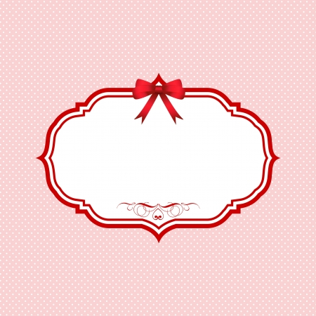 Cute Polka dot Valentines Day background