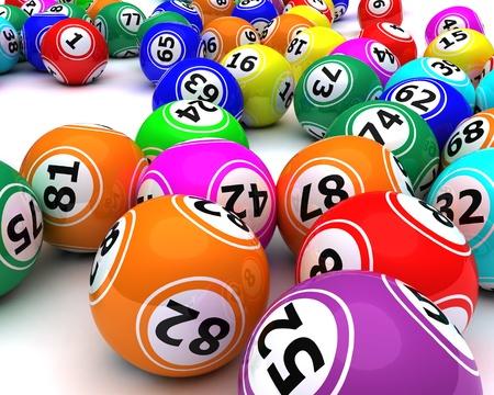 3d render of a set of colouored bingo balls