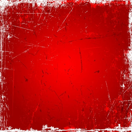 scratch card: Grunge background with scratches and stains in shades of red