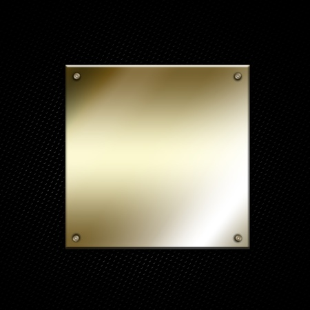 Shiny distressed metallic frame on perforated metal background Stock Photo - 12335166