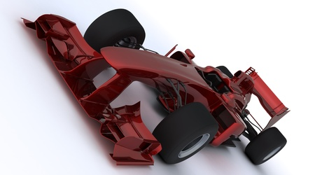formule: 3d render of a formula one racing car