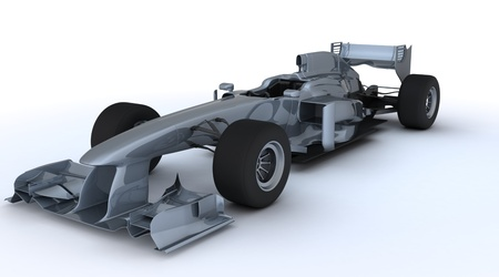 3D render of a Generic open wheeled racing car photo