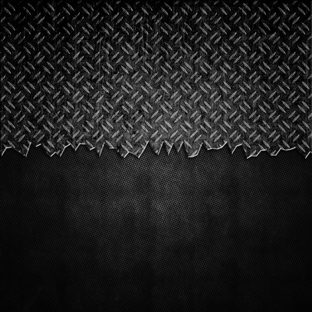 Cracked metal plate background with grunge effect photo