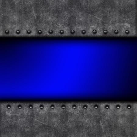 tornillo: Grunge fondo con textura de hormig�n y los remaches y el color azul brillante