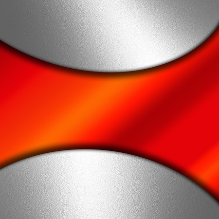 Abstract background with shiny metal and red gradient Stock Photo - 13425143