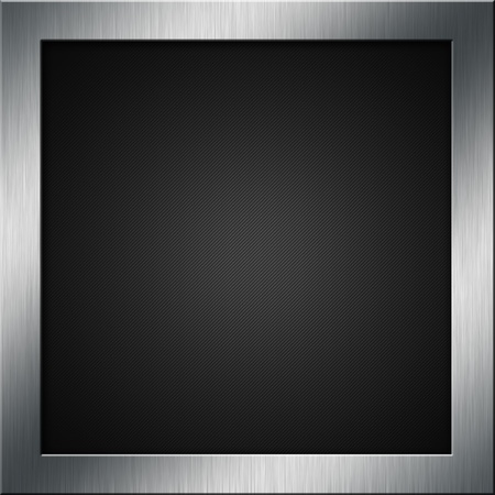 carbon fibre: Carbon fibre background with a brushed metal frame