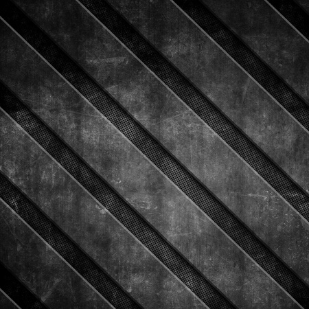 scratched metal: Grunge diagonal stripes on a perforated metal background