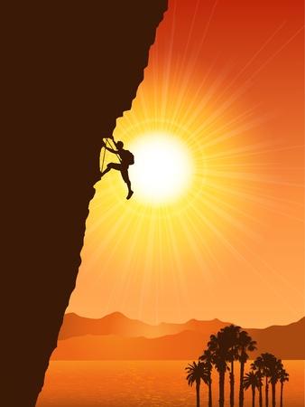 mountain climber: Rock Climber Stock Photo