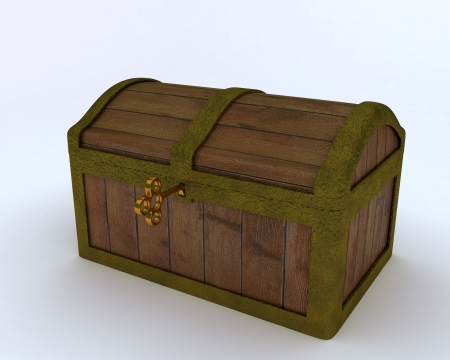 3D render of a Pirates treasure chest photo
