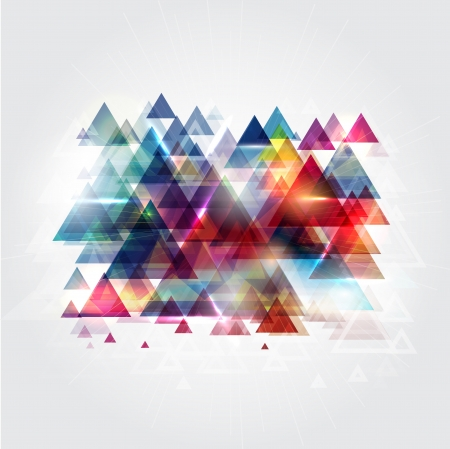 Abstract design background consisting of triangle shapes photo
