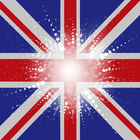 Starry Union Jack Flag background photo