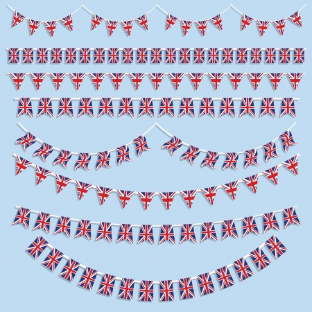 union jack: Union Jack bunting and decorations