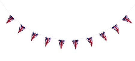 3D render of Union Jack Bunting and Banners Standard-Bild