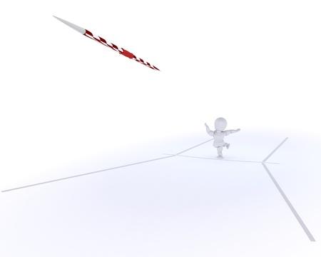 lanzamiento de jabalina: 3D render de un hombre de lanzamiento de la jabalina Foto de archivo