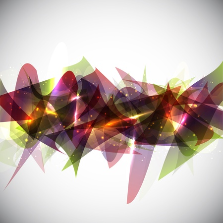 glowing lights: Abstract design background with shapes and glowing lights