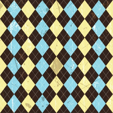 argyle: Seamless tiled background of a grunge argyle style pattern