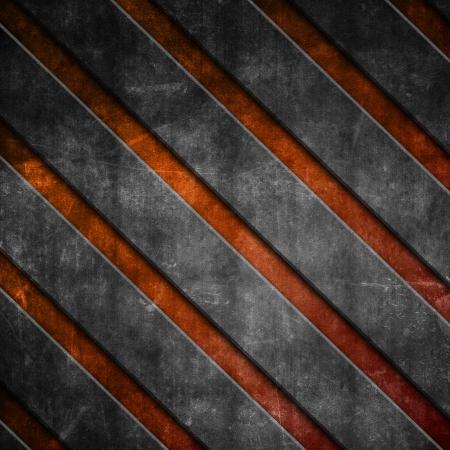 rayures diagonales: Grunge rayures diagonales sur un fond orange Banque d'images