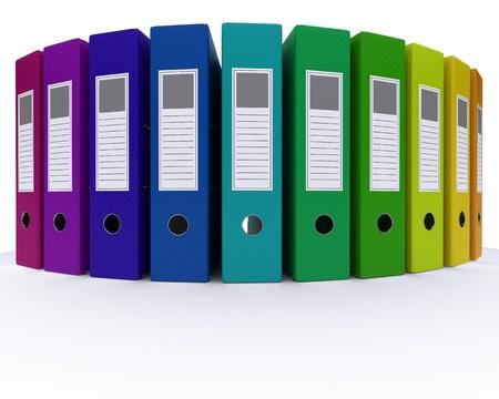 3D Render of colourful folders 版權商用圖片