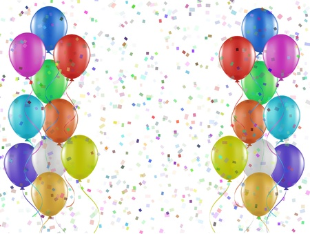 Party background of balloons and confetti photo