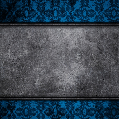 Grunge style concrete on a floral design background