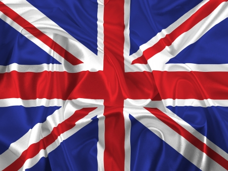 queens jubilee: Union Jack flag with folds and creases