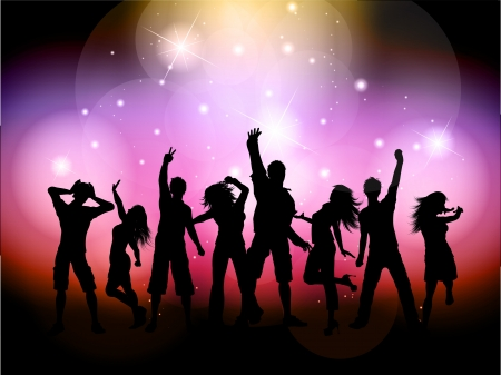 dancing disco: Party people background