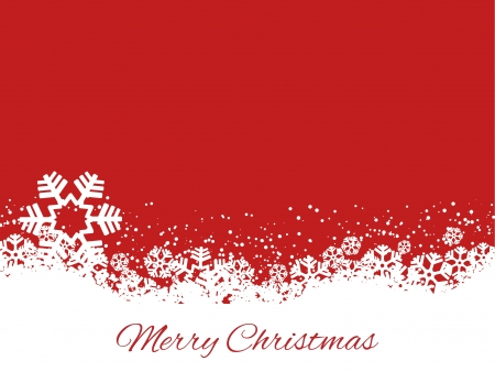 snowflake background: Merry Christmas background with decorative snowflakes