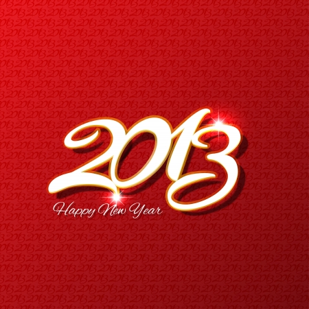 Decorative background with the words Happy New Year and 2013 photo