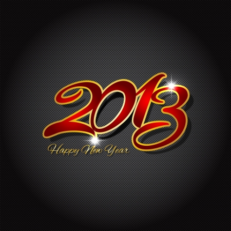 Background illustration of a carbon fibre pattern with happy new year wording Stock Illustration - 16666765