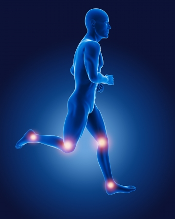 3D running medical man photo